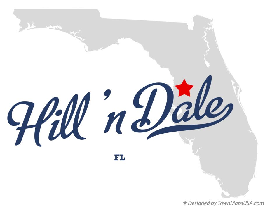 Map of Hill 'n Dale Florida FL