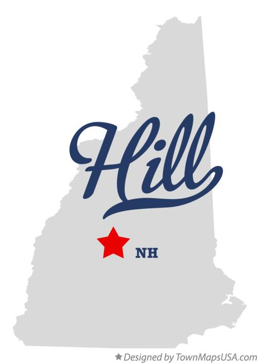 Map of Hill New Hampshire NH