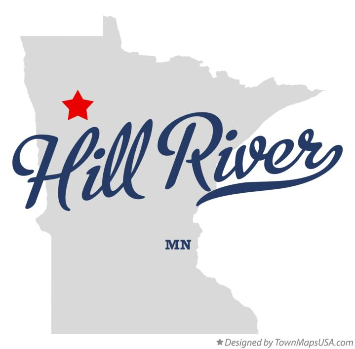 Map of Hill River Minnesota MN
