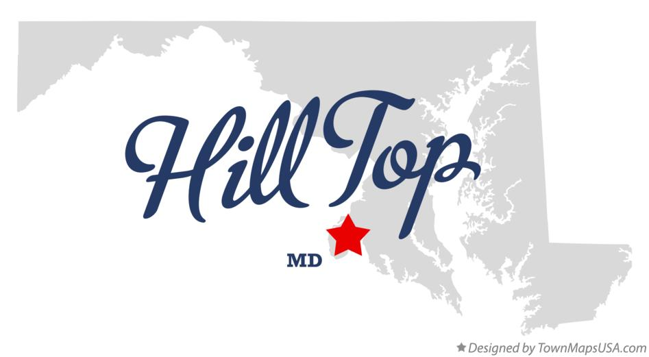 Map of Hill Top Maryland MD