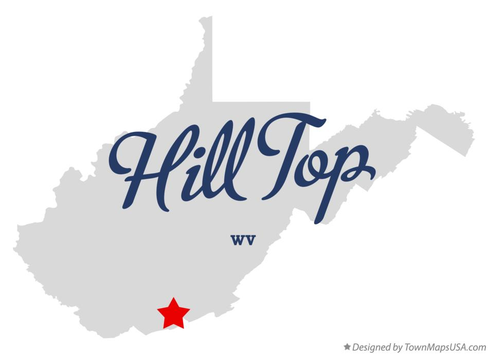 Map of Hill Top West Virginia WV