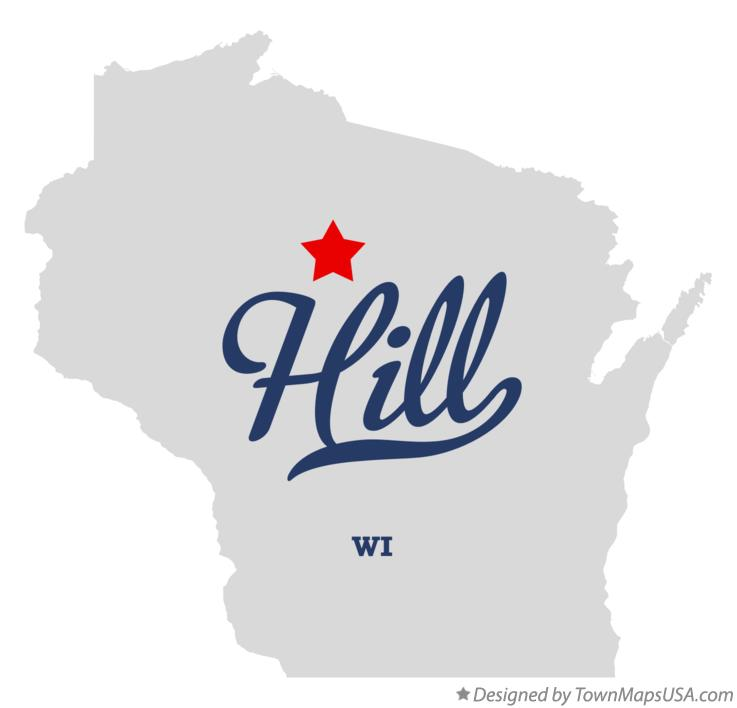 Map of Hill Wisconsin WI