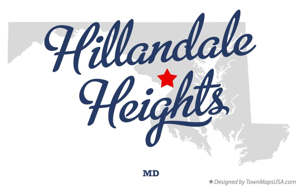 Map of Hillandale Heights Maryland MD