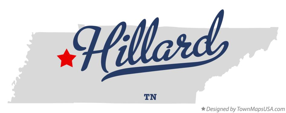 Map of Hillard Tennessee TN