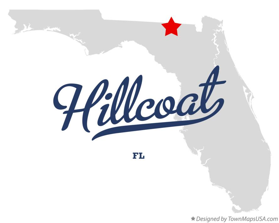 Map of Hillcoat Florida FL