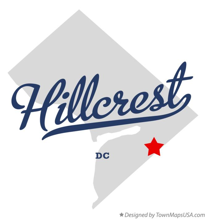 Map of Hillcrest District Of Columbia DC