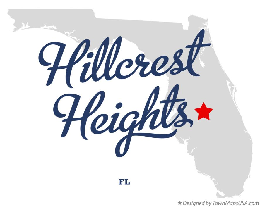Map of Hillcrest Heights Florida FL