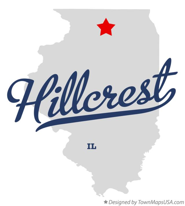 Map of Hillcrest Illinois IL