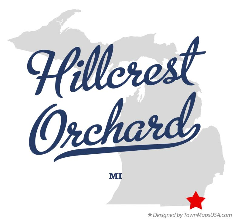Map of Hillcrest Orchard Michigan MI