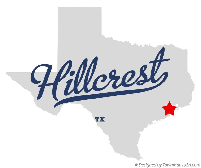 Map of Hillcrest Texas TX