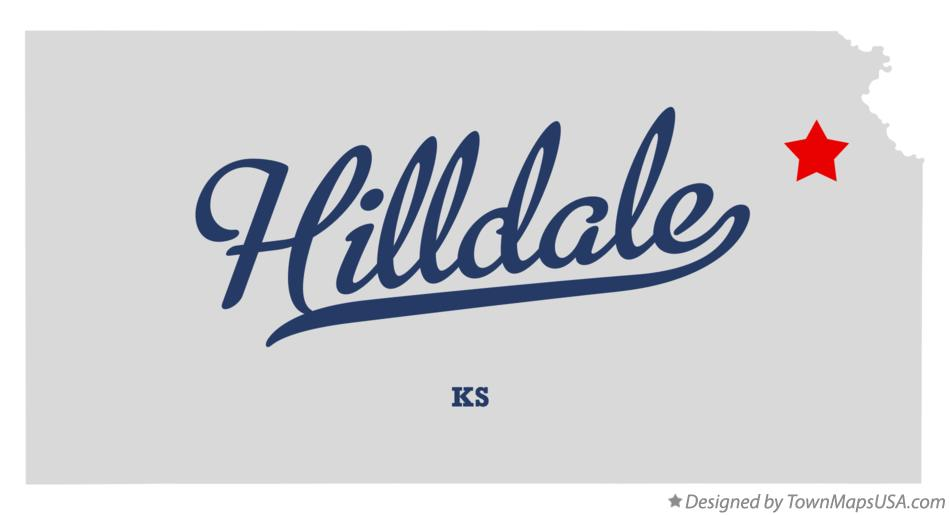 Map of Hilldale Kansas KS