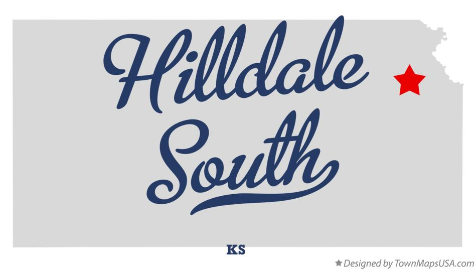Map of Hilldale South Kansas KS