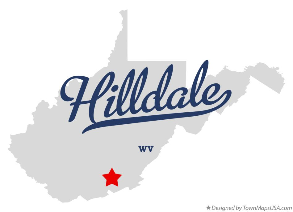 Map of Hilldale West Virginia WV
