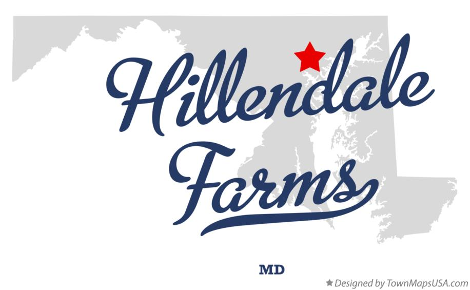 Map of Hillendale Farms Maryland MD