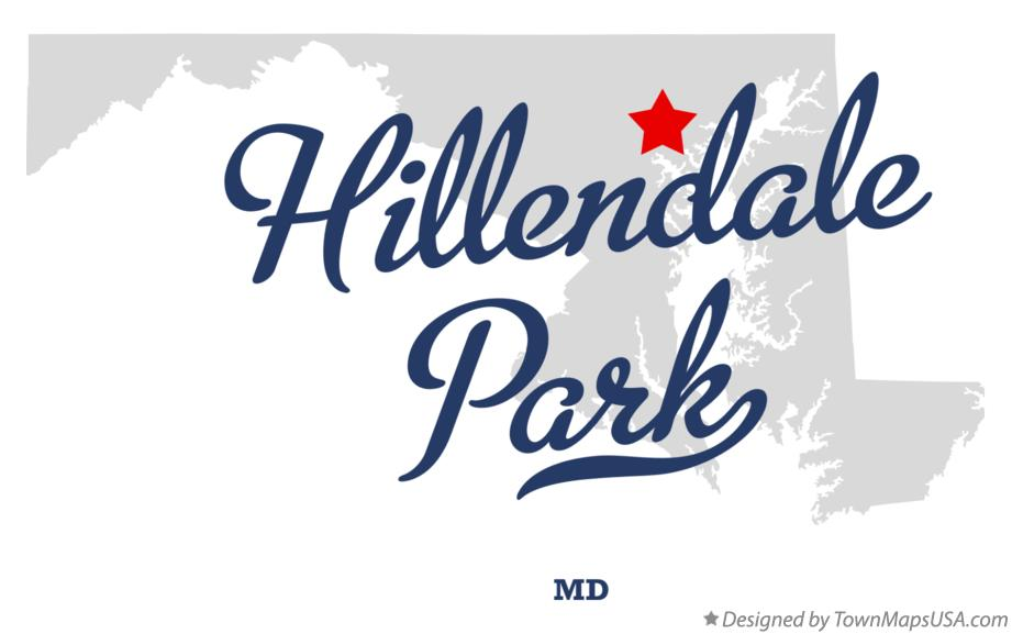 Map of Hillendale Park Maryland MD