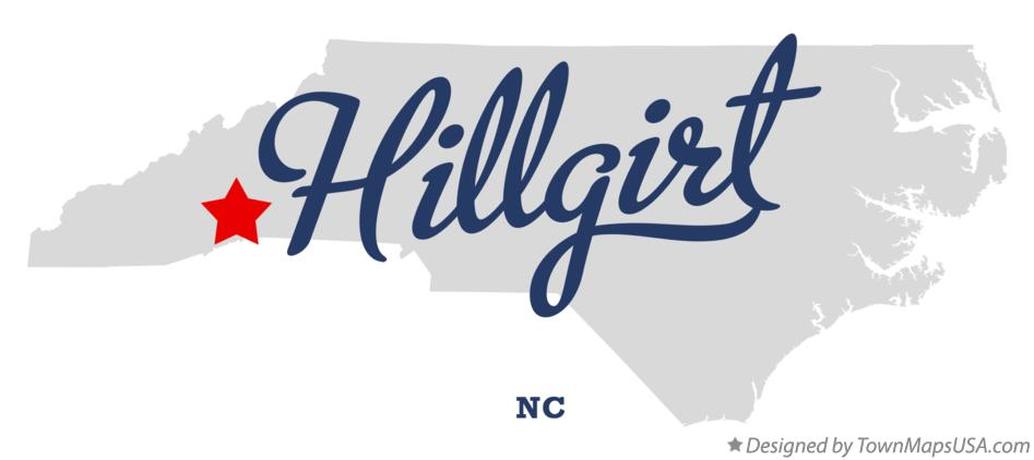 Map of Hillgirt North Carolina NC