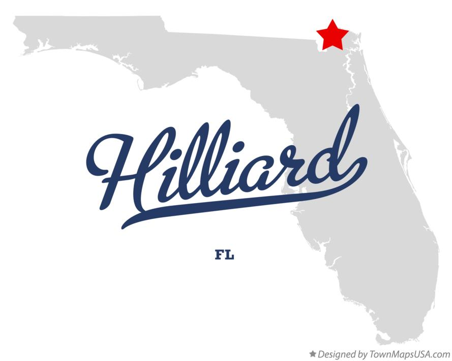 Map of Hilliard Florida FL