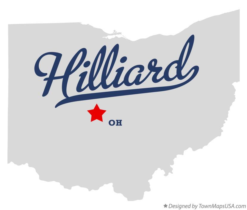 Map of Hilliard Ohio OH