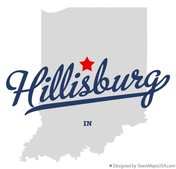 Map of Hillisburg Indiana IN