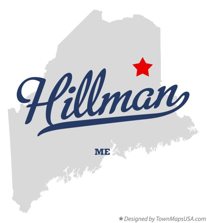 Map of Hillman Maine ME