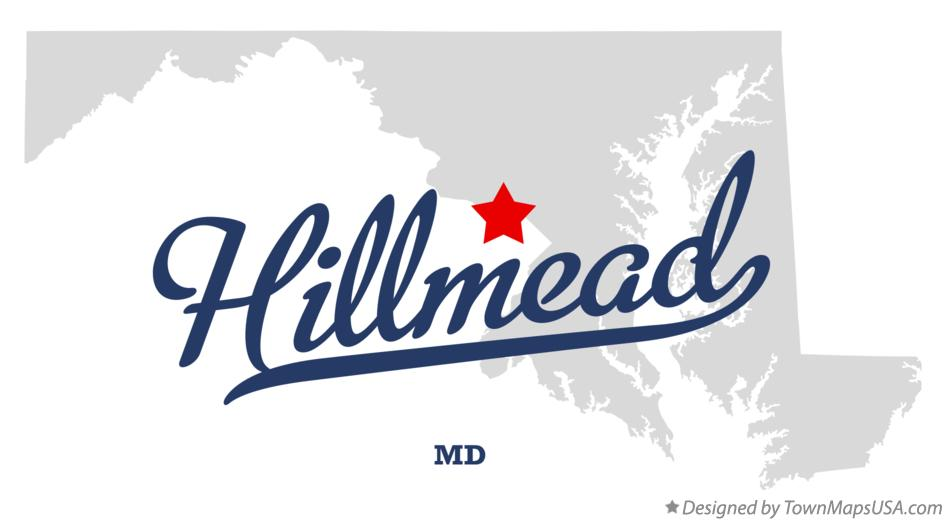 Map of Hillmead Maryland MD