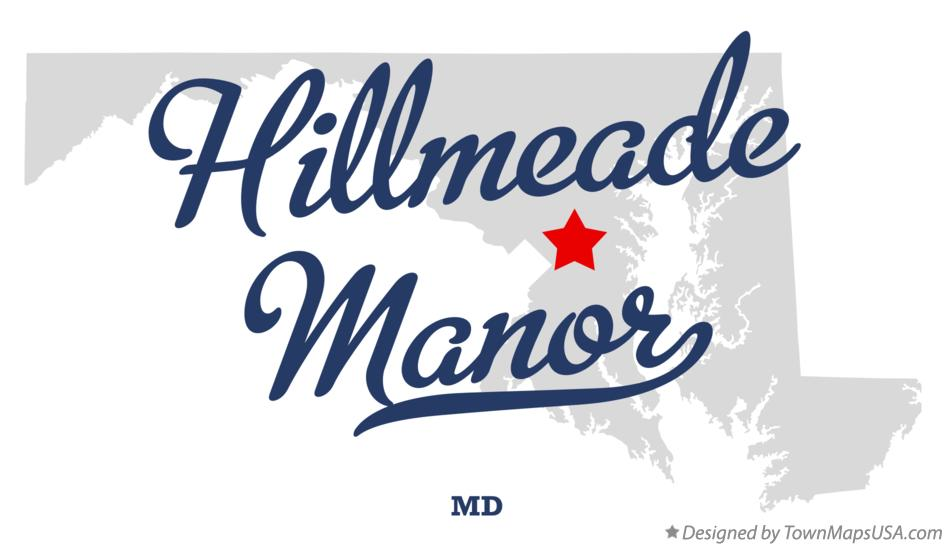 Map of Hillmeade Manor Maryland MD