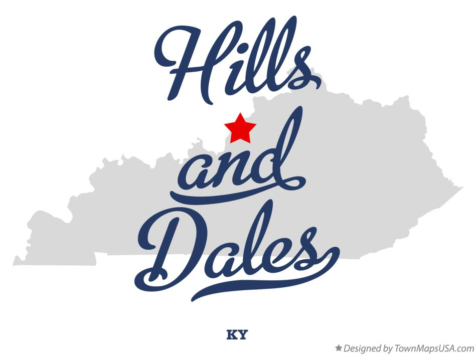 Map of Hills and Dales Kentucky KY