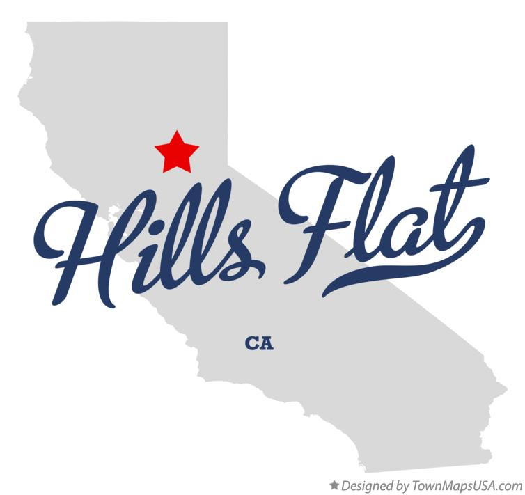 Map of Hills Flat California CA