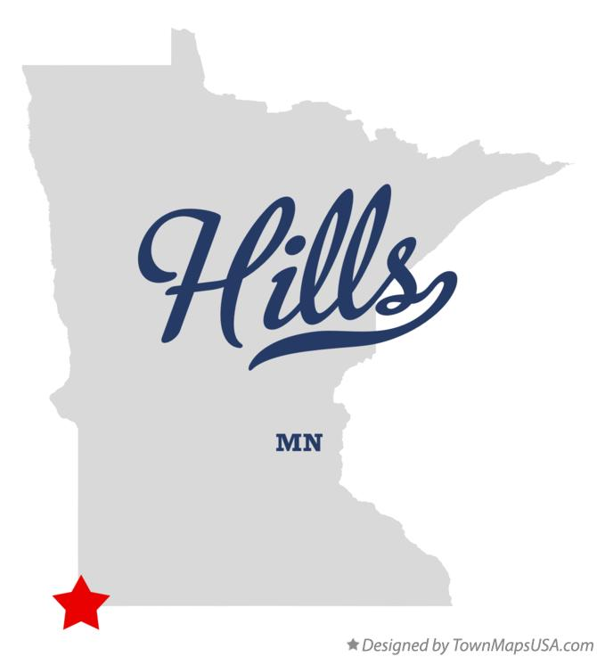 Map of Hills Minnesota MN
