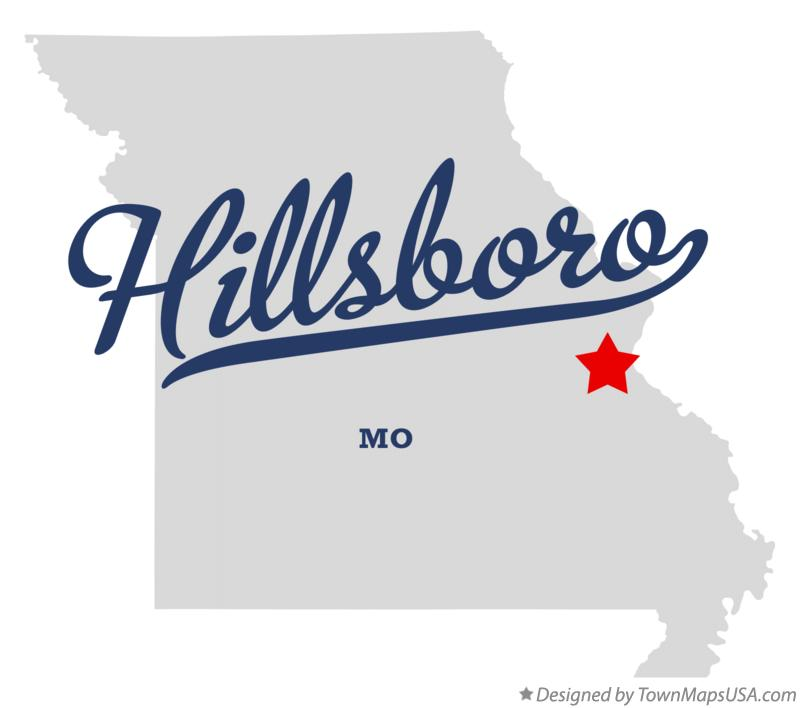 Map of Hillsboro Missouri MO