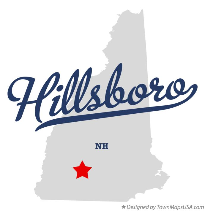 Map of Hillsboro New Hampshire NH