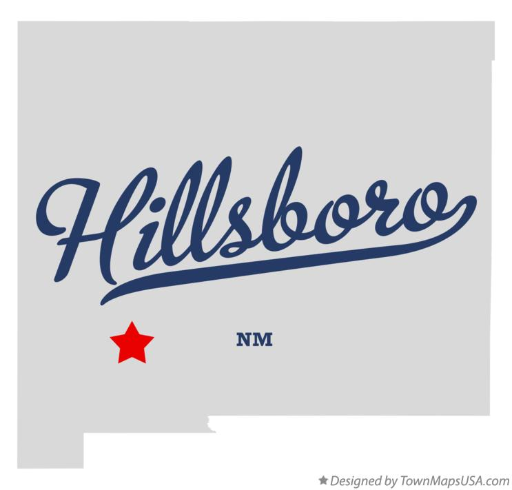 Map of Hillsboro New Mexico NM