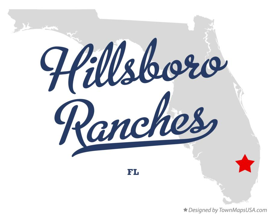 Map of Hillsboro Ranches Florida FL