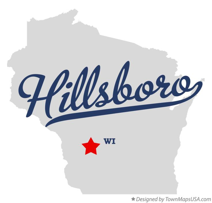 Map of Hillsboro Wisconsin WI