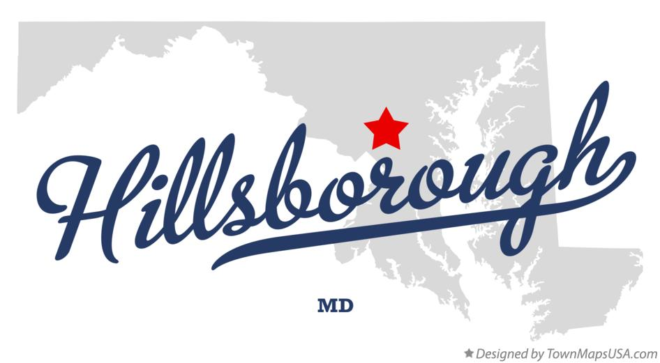 Map of Hillsborough Maryland MD