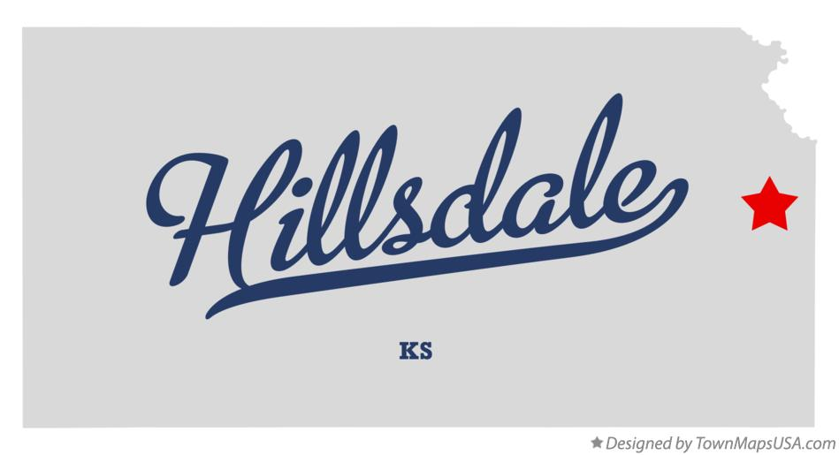 Map of Hillsdale Kansas KS
