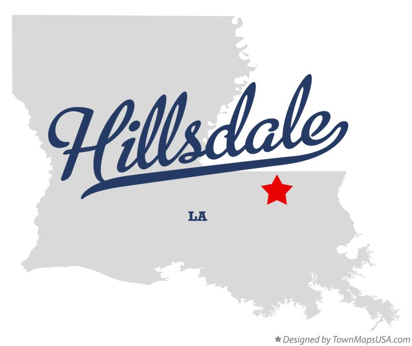 Map of Hillsdale Louisiana LA