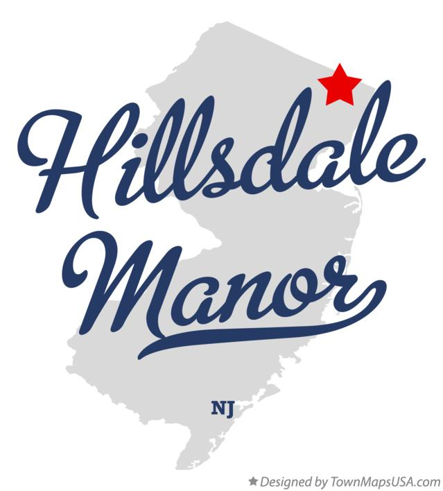Map of Hillsdale Manor New Jersey NJ