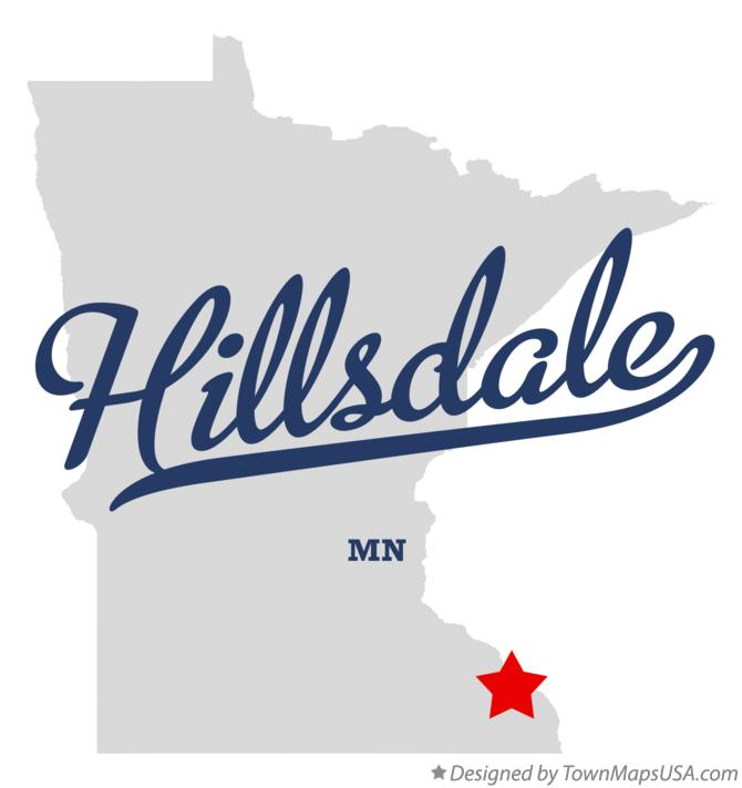 Map of Hillsdale Minnesota MN