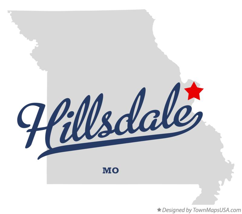 Woodson Terrace (MO) United States  city photos gallery : Map of Hillsdale Missouri MO