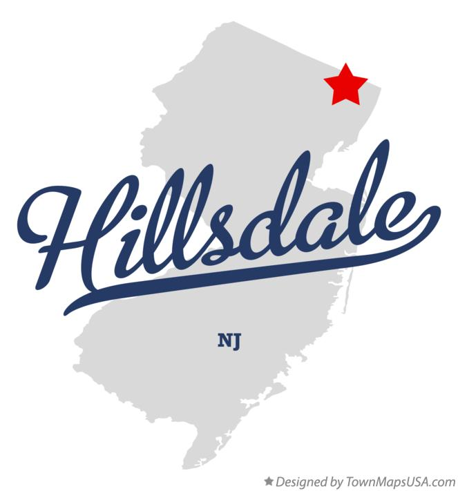 Map of Hillsdale New Jersey NJ