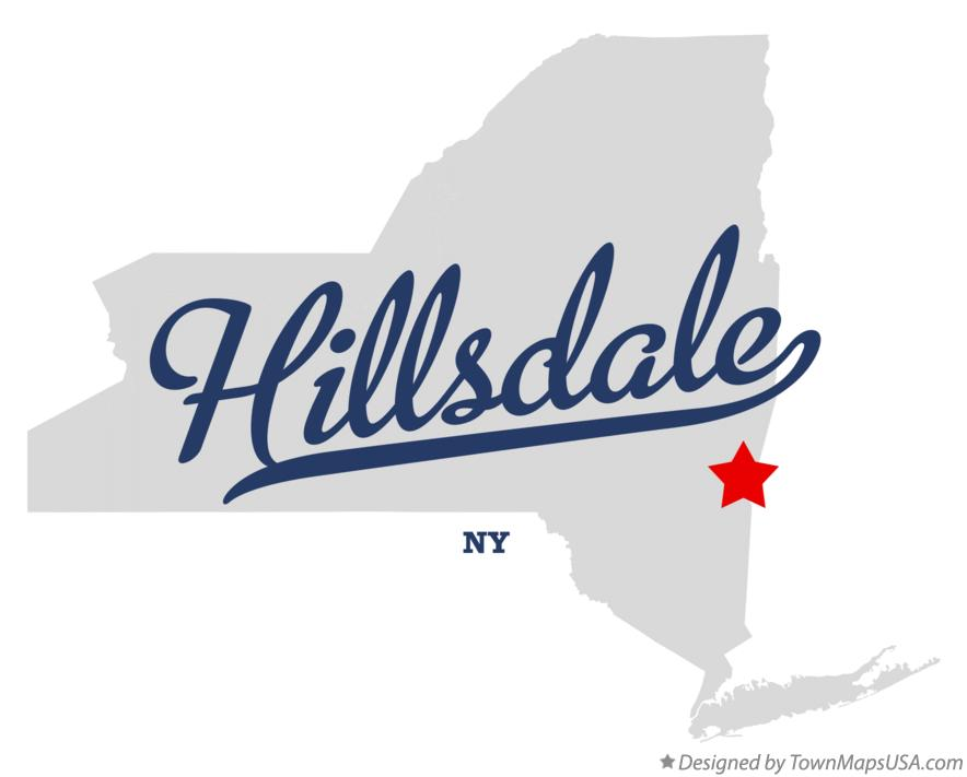 Map of Hillsdale New York NY