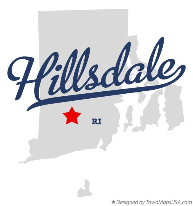 Map of Hillsdale Rhode Island RI
