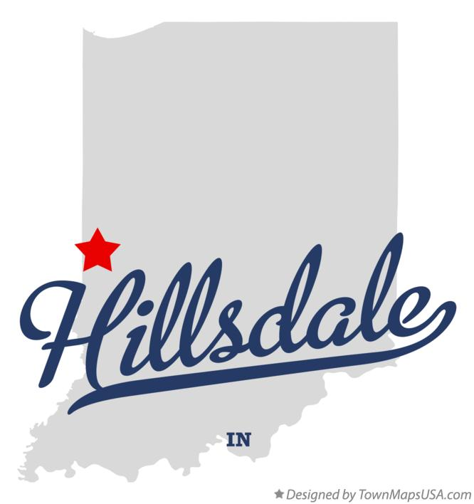 Map of Hillsdale Indiana IN