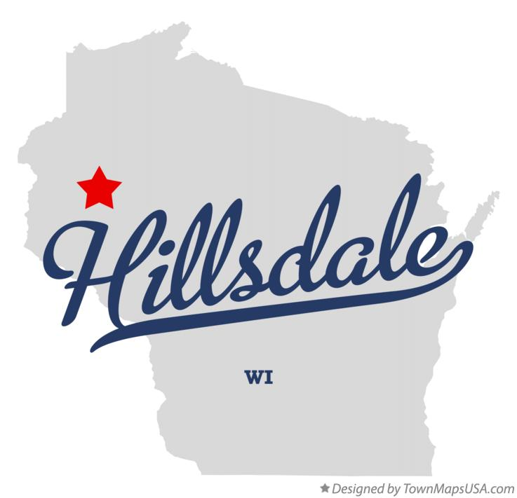 Map of Hillsdale Wisconsin WI