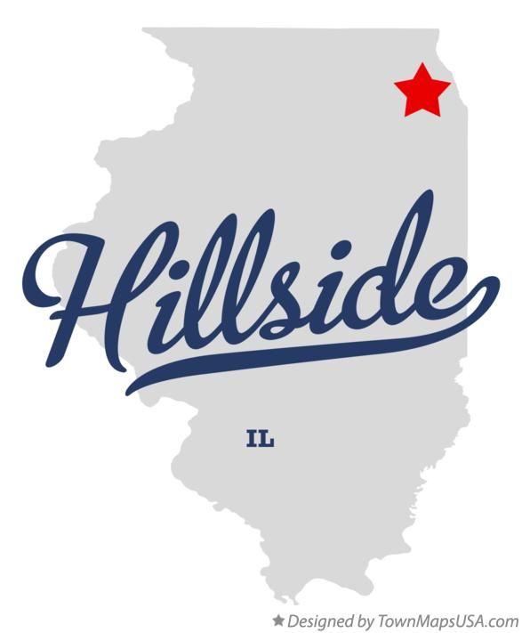 Map of Hillside Illinois IL