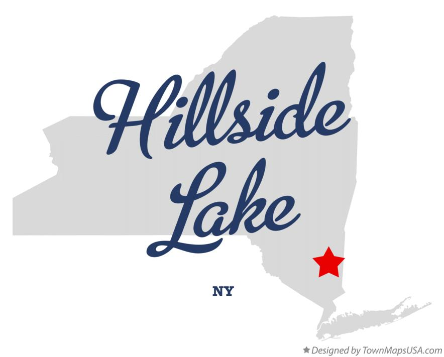 Map of Hillside Lake New York NY