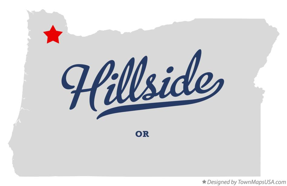 Map of Hillside Oregon OR