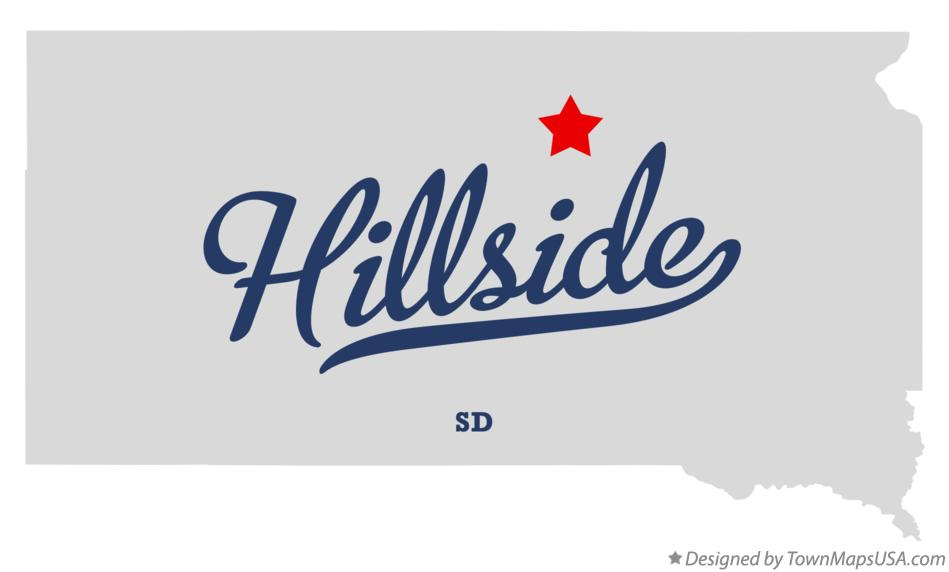 Map of Hillside South Dakota SD