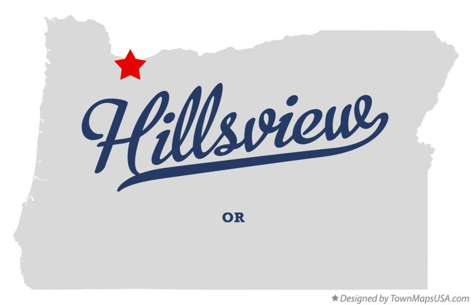 Map of Hillsview Oregon OR